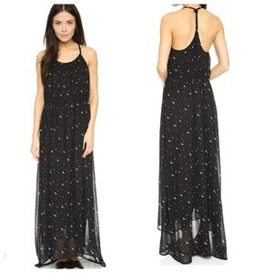 Wildfox Moon & Stars Black Maxi Dress